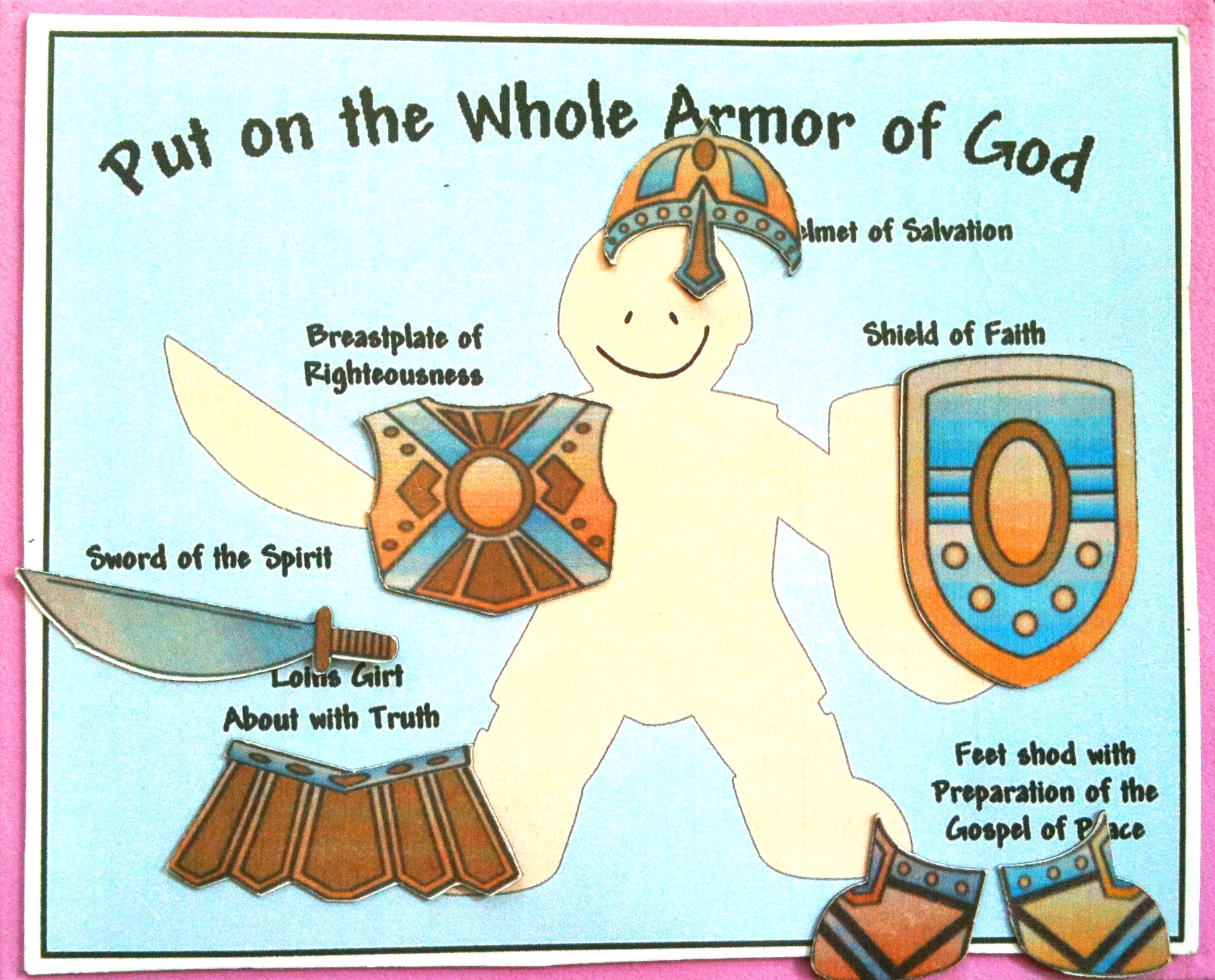 armor of god shoes of peace crafts