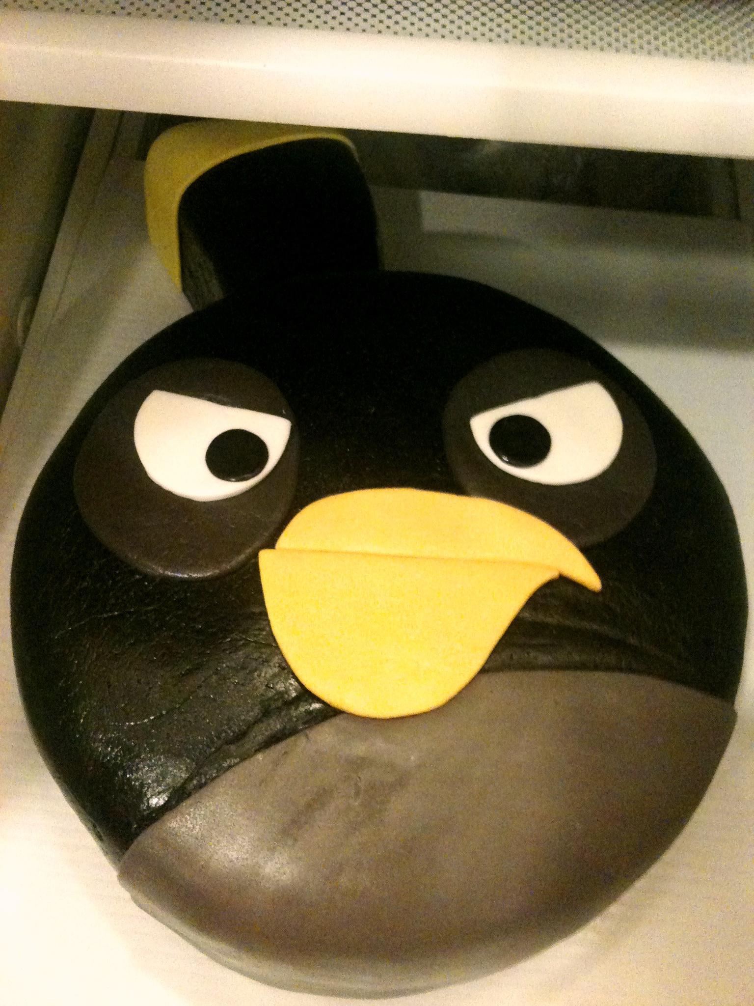 Bomb Bird Cake Angry Bird Cake